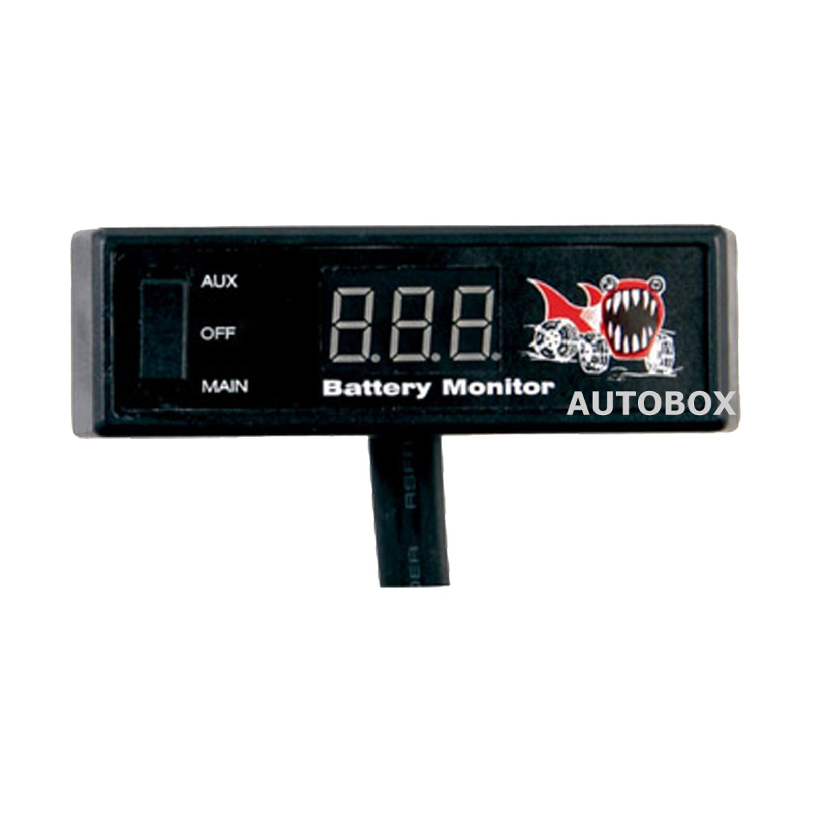 12 Volt Battery Monitoring System : Piranha dbm dual battery system monitor volt digital