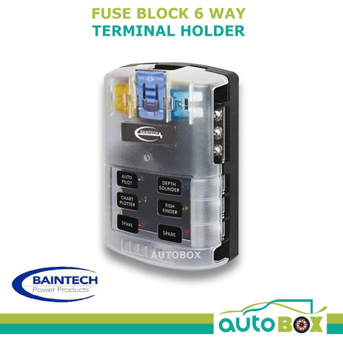 caravan 6 way 30 amp fuse block terminal holder 12v 4wd