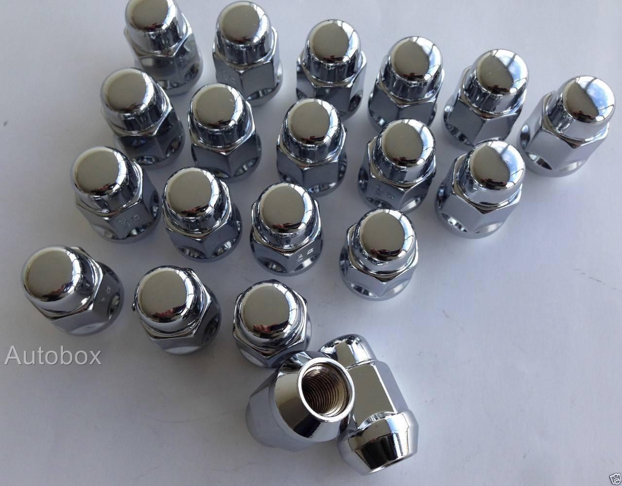 SAAS Acorn Style Chrome Wheel Lug Nuts 20 X 7 16 Inch