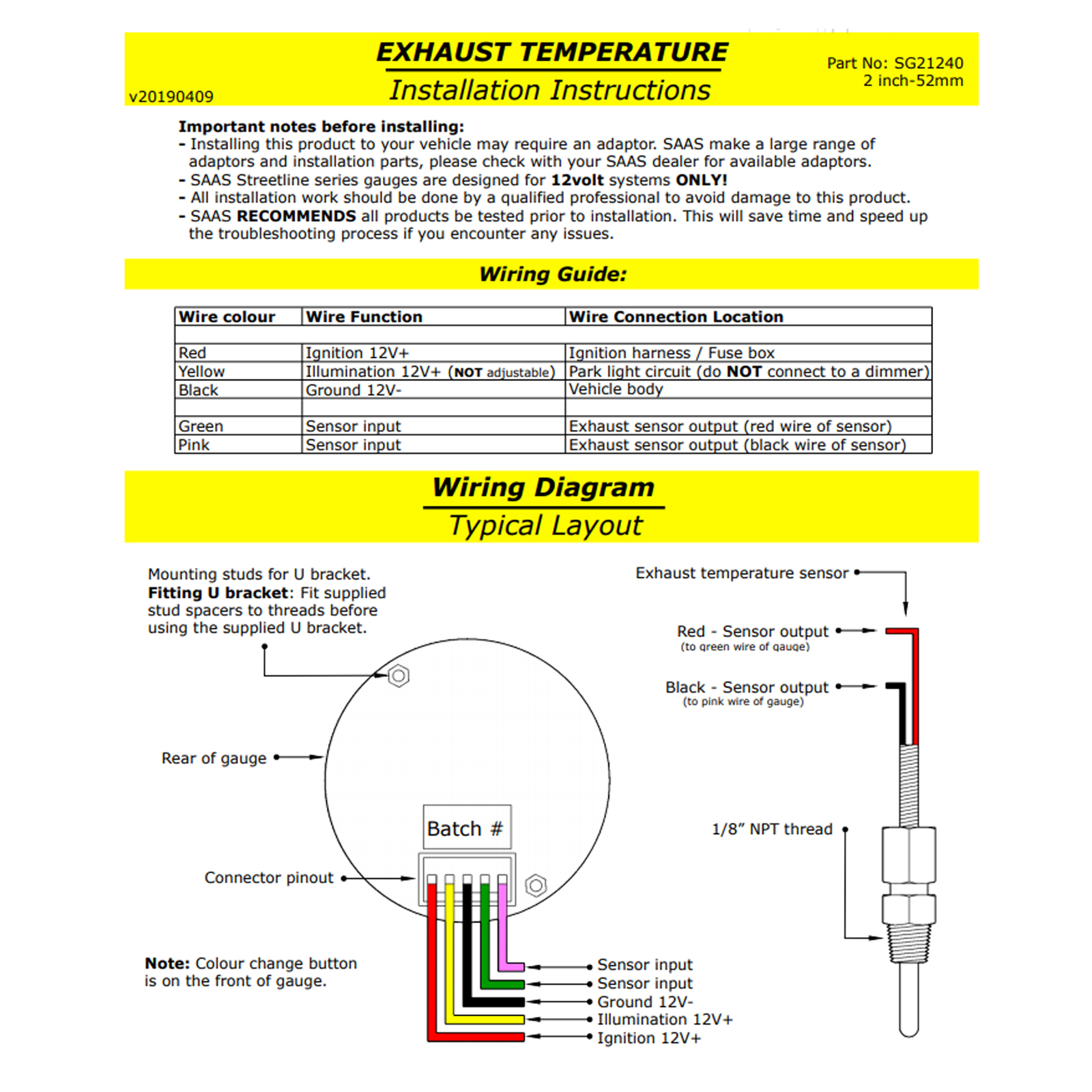 Vdo Exhaust Temperature Gauge Wiring Product Wiring Diagrams \u2022 Westach Temp  Gauge Wiring