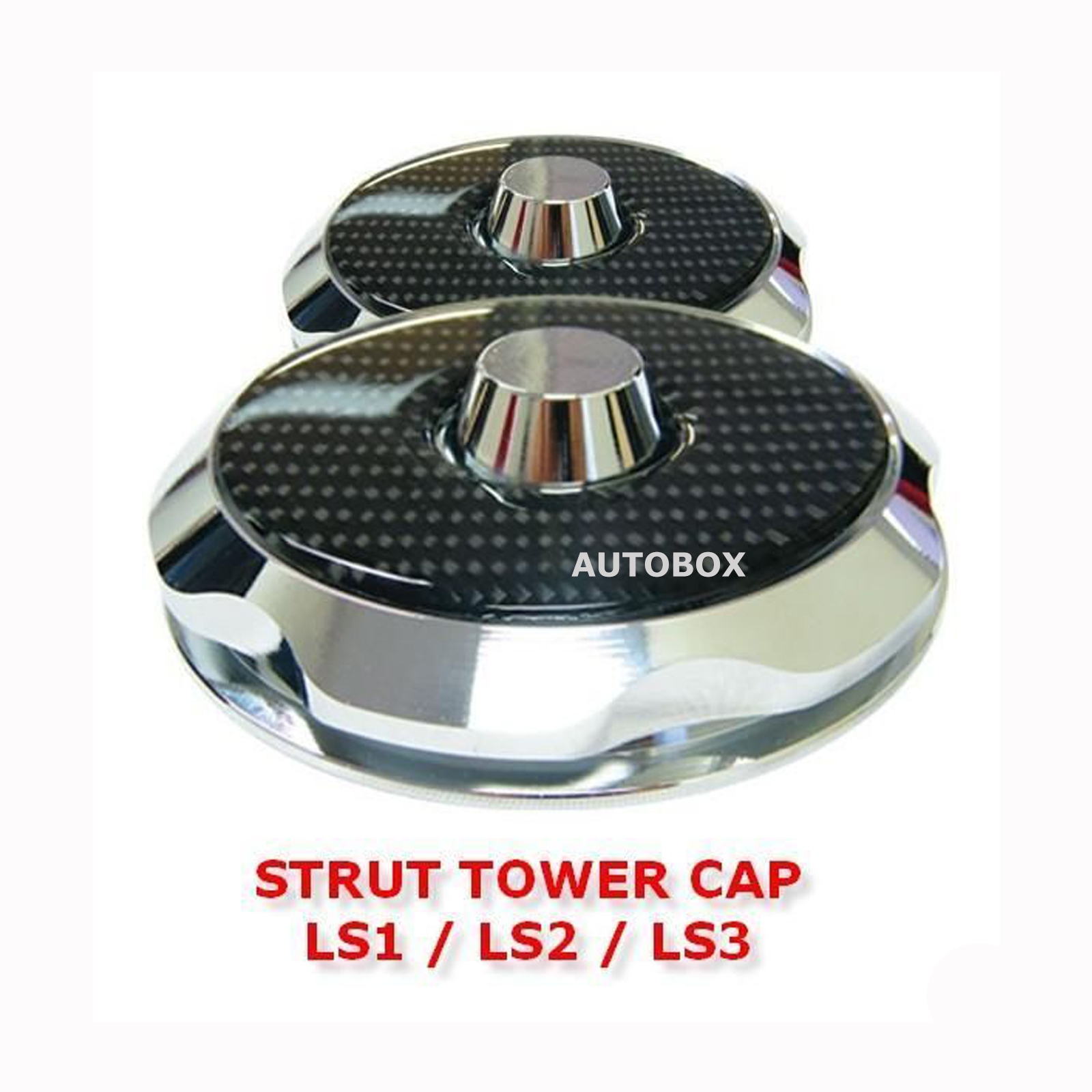 Front Strut Top Tower Cap Set Chrome Amp Carbon Fibre Suits