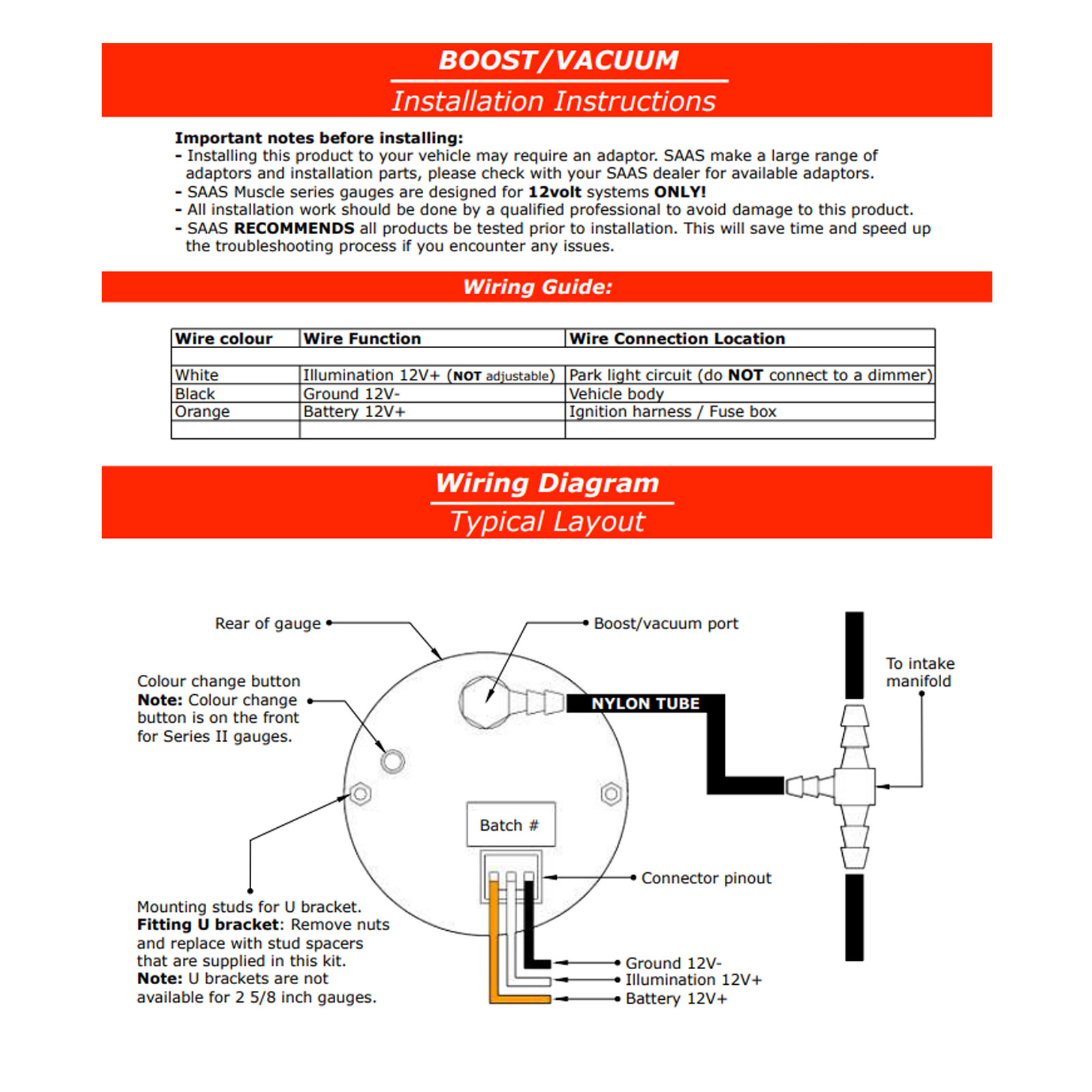 SGTBD52WSGOP52WK1041 saas diesel boost 0 30psi and oil pressure 0 140psi gauges plus saas boost gauge wiring diagram at soozxer.org