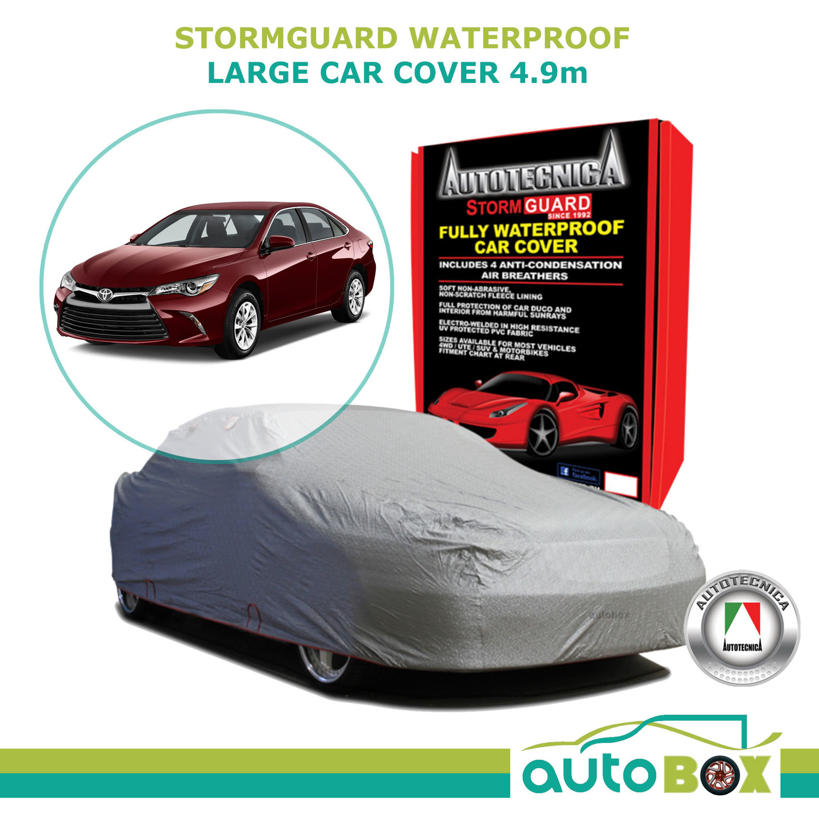 Toyota Camry Autotecnica Car Cover Large 4.9m Storm Guard