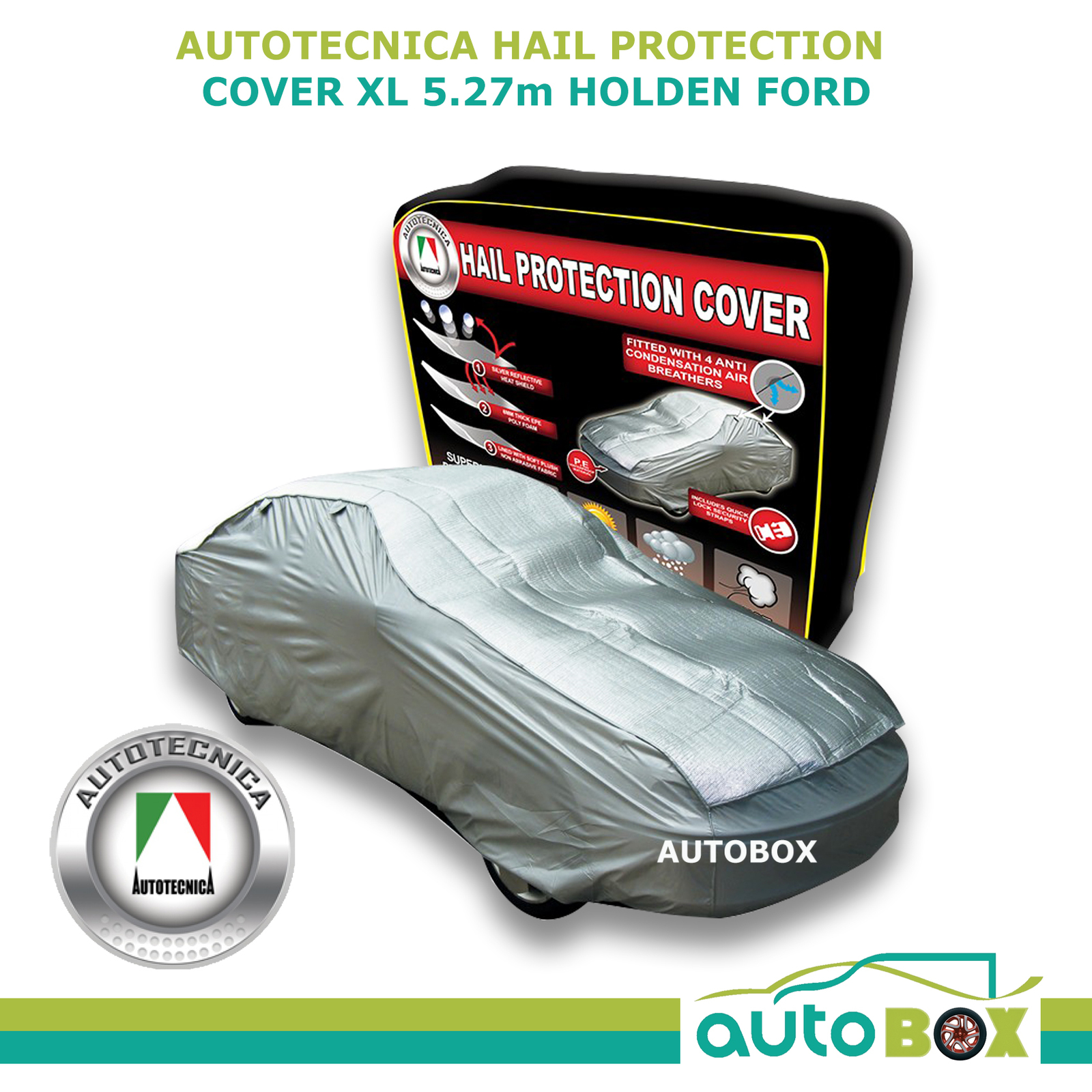 Hail Protection Car Cover >> AUTOTECNICA CAR HAIL STORM STONE PROTECTION COVER XL to 5.27m Holden VF Ford FG