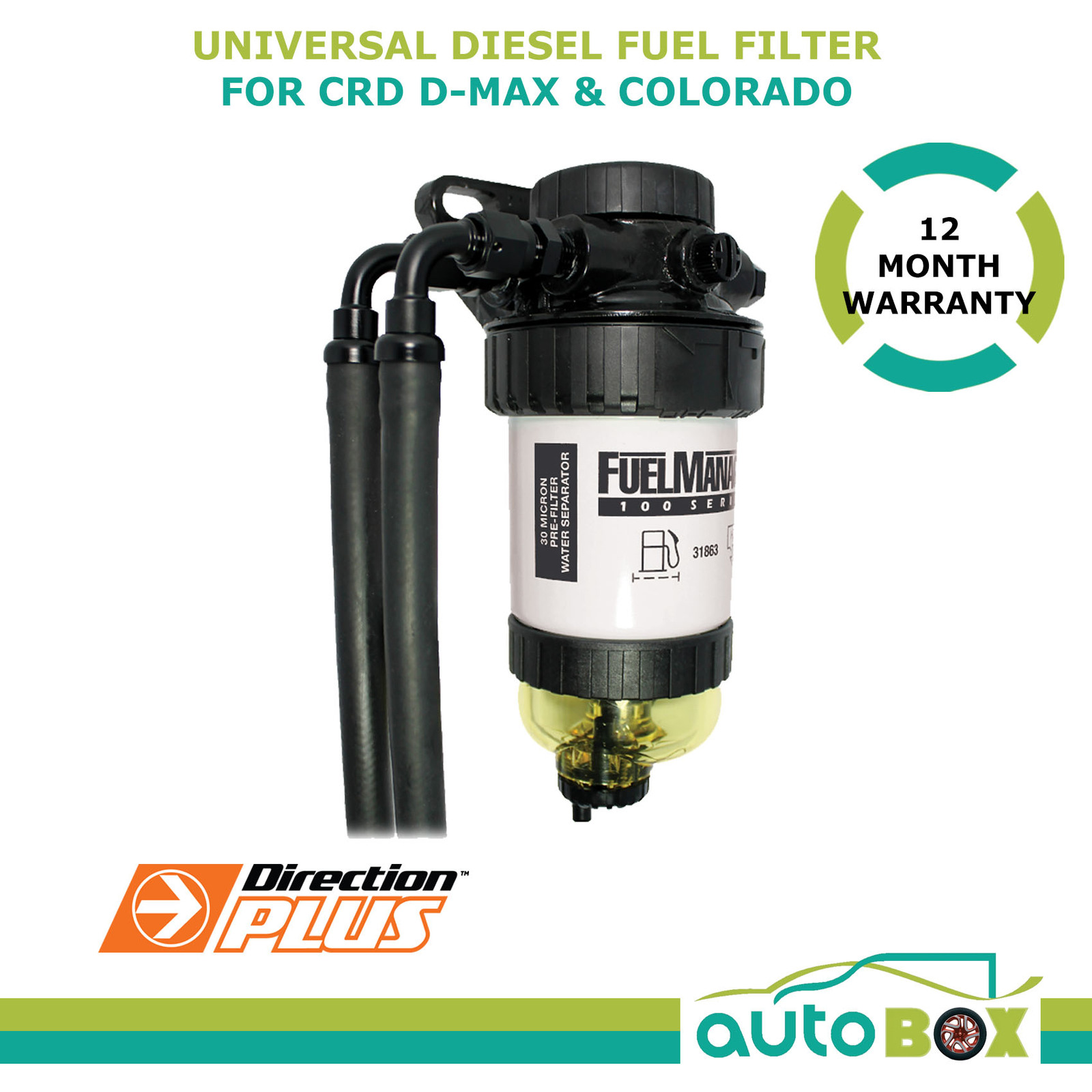 Diesel fuel Filter / Water Separator Universal Pre-Filter - CRD D-Max  Colorado