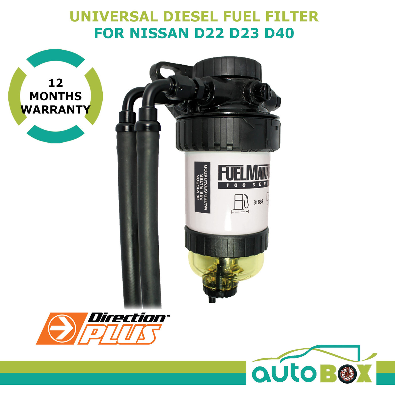 Diesel Fuel Filter Water Separator Pre-Filter for Nissan D22 D23 D40  (Manual) | Autobox