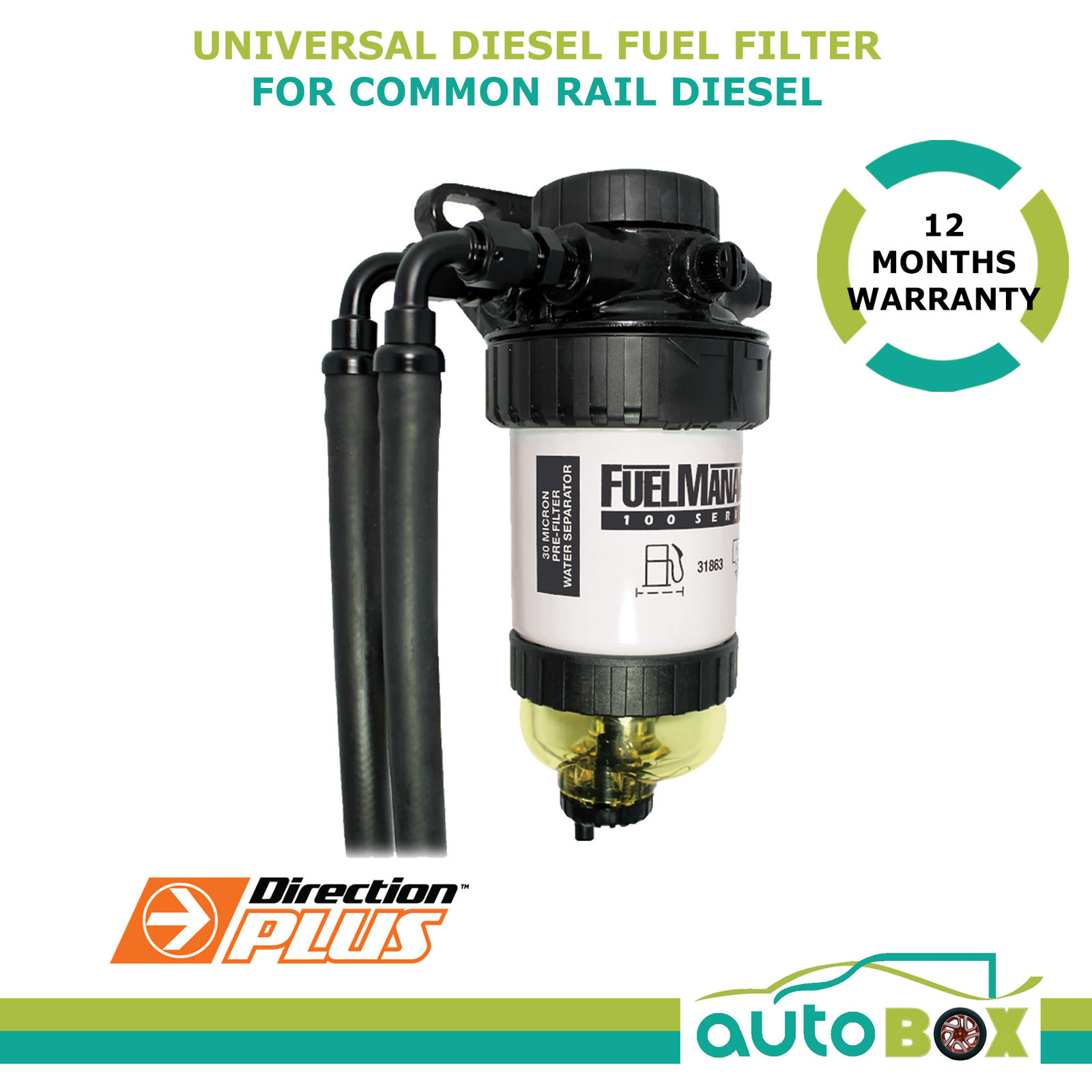 Diesel Fuel Filter / Water Separator Universal Pre-Filter Common Rail Diesel  Kit