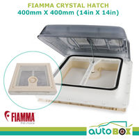 Fiamma Crystal Hatch 400 X 400mm Vent Caravan Motorhome Roof Cover Camping