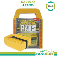Camco Heavy Duty Stabilizer Jack Pads RV Caravan Motorhome Camper Yellow