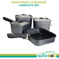 Cookware Smartspace Complete Pot Set Frying Pan Handle Caravan Camping Outdoor