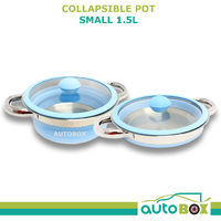 Collapsible Small Pot 1.5 Litre for Caravan Motorhome Camper Camping Boat Home