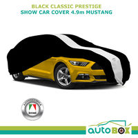 Show Car Cover Racing Stripe Black Indoor 2015 2016 2017 2018 2019 Ford Mustang