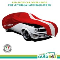 RED WASHABLE SHOW CAR COVER fits Holden LX Torana Hatchback A9X SS Large 4.9m