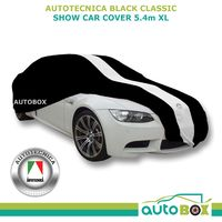 Autotecnica Black Extra Large Show Car Cover Indoor Dust Classic fits to 5.4m