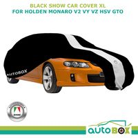 Non-Scratch XL Show Car Cover fits Holden Monaro V2 VY VZ HSV GTO Coupe, Black