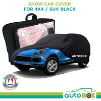 4WD SUV Show Car Soft Dust Cover Black suits Porsche Cayenne Wagon GTS Turbo