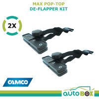 Camco MAX Pop-Top De-flapper 2 Pack Kit Caravan Awning Tensioner Screen Awnings
