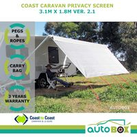 3.1m Coast Caravan Privacy Sunscreen Shade Cover for 11 feet Roll-out Awnings