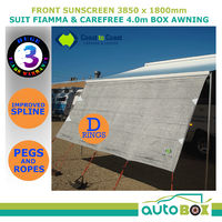 3.85m Coast Caravan Privacy Screen Sun Shade Suit 4.0m Box Awning or Fiamma F45