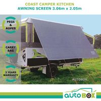 Coast 3.1m Kitchen Awning Privacy Sunscreen for Jayco Eagle Hawk Camper Trailer