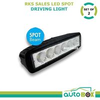 COMPACT LED SPOT DRIVING LIGHT PAIR 2x 18WATT 160MM 1100 lumens 4wd 3yr warranty