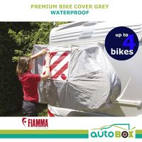 Fiamma Bike Cover For Motorhome Up To 4 Bikes Premium Grey Vinyl 08208B01