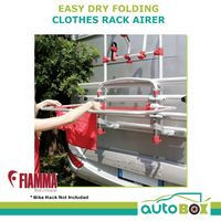Caravan Fiamma Easy Dry Folding Clothes Rack Motorhome RV Camping Outdoor Camper