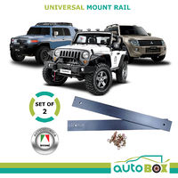 2x Autotecnica Universal Mount Rail Bars for Sports and 4WD Seats Sliding