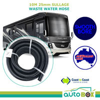 10M 25mm Sullage Waste Water Hose Smooth Bore Caravan Camper RV Motorhome Coast