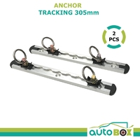 Anchor Tracking 2pce 305mm 680kg Breaking Strain Tie Down Track Trailer Ute Bike