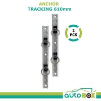Anchor Tracking 2pce 610mm 680kg Breaking Strain Tie Down Track Trailer Ute Bike