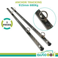 2x 4WD 915mm Aluminium Alloy Anchor Track 680kg Breaking Strain Tiedown Trailer