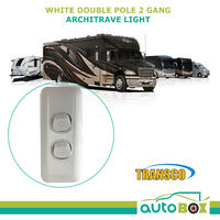 Caravan Double Pole Dual 2 Gang Light Switch 10 amp Slimline 240v Motorhome RV