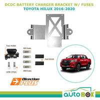Mounting Bracket for Redarc BCDC Charger suit Toyota Hilux 2016-2020 with Fuses