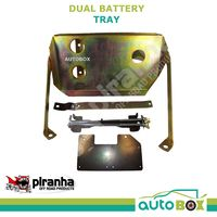 Piranha Dual Battery Tray for Toyota Landcruiser 70 Series 2012-16 1VDFTV V8 ABS