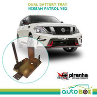 Piranha Dual Battery Tray for Nissan Patrol Y62 5.6L V8 Petrol 2013 onward