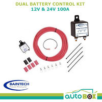 BAINTECH 100 AMP DUAL BATTERY SYSTEM KIT 12 VOLT ISOLATOR CARAVAN AGM DEEP CYCLE