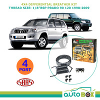 SAAS 4WD DIFF BREATHER KIT 4 Port suit TOYOTA PRADO 90 120 1998-2009 All Models