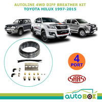 SAAS Autoline 4WD DIFF BREATHER KIT 4 Port for TOYOTA HILUX 1997-2015 All Models