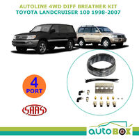 SAAS Autoline 4WD DIFF BREATHER KIT 4 Port for TOYOTA LANDCRUISER 100 1998-07