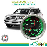Diesel Dual Boost and EGT Pyro Exhaust Temp Dual 60mm Gauge Cup for Landcruiser