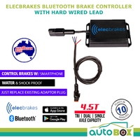 Elecbrakes Electric Bluetooth Caravan Brake Controller with Hard Wired Lead