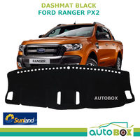 DASHMAT fits FORD PX2 Ranger Black Sunland DASH MAT Protection Sep 2015 onwards