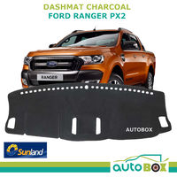 Sunland DashMat suits Ford PX2 Ranger Charcoal Dash Mat Protection Sep2015 on