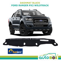 Sunland DashMat suit Ford PX2 PX3 Ranger Wildtrack Dash Protection Black 9/2015