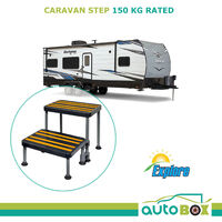 Lightweight Caravan RV Step 150kg Rated Compact Easy Storage Slip Resistant +Bag