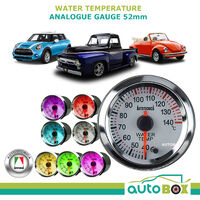 Autotecnica WATER TEMPERATURE White Face Electronic Analogue Gauge 12V 52mm