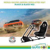 Autotecnica Monza Racing Simulator Gaming Frame Black or Black Red