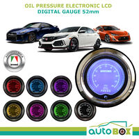 OIL PRESSURE GAUGE 52mm Electronic Digital LCD Gauge by Autotecnica 7 Colour DSP