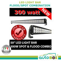 LED Light Bar 50in 300W 12V Flood / Spot Combination 4WD Boat UTE 4X4 Truck